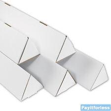 "2"" x 18.25""  White Triangle Shipping Mailer Mailing Storage Postal Tubes 50 Pc"