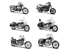 6PC HARLEY DAVIDSON MOTORCYCLE SET SERIES 32 1/18 BY MAISTO 31360-32