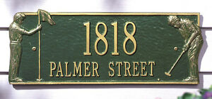 Whitehall Golf Greens Address Marker Personalized Plaque 17 Colors & NO Rust