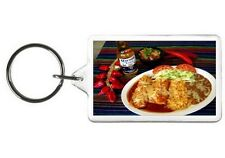 ENCHILADA KEYCHAIN - DOUBLE SIDED ACRYLIC FOOD KEYRING