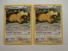 Carte Pokemon Castorno 100 pv Noir et Blanc Dragons Exaltés x 2 !!!