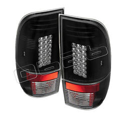 Ford F150 Styleside 97-03 F250 350 450 550 Super Duty 99-07 LED Tail Lights Blac
