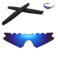 WL Polarized Ice Blue Vented Replacement+Black Earsocks for Oakley M Frame Sweep