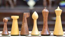 "Minimalist Hermann Ohme Chess Set in Sheesham &Box Wood - 3.74"" King chessbazaar"