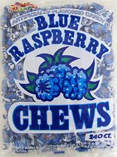 Albert's Blue Raspberry Chews 240 Count Classic Candy Bulk Candies Taffy Chewy