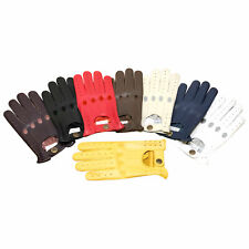 New Prime Retro Real Leather Men's Driving Fashion Gloves Unlined Chauffeur 507