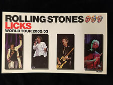 ROLLING STONES-LICKS WORLD TOUR 2002-2003-POSTER-LIMITED EDITION-JAGGER-RICHARDS
