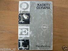 OPEL KADETT OLYMPIA HANDLEIDING 1968 OWNERS MANUAL,INSTRUCTION BOOK
