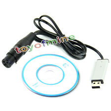 Satge Lights Controller Dimmer DMX512 Protocol PC USB to DMX Interface Adapter