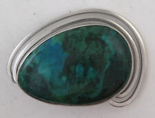 Gorgeous Sterling Silver Israeli Large Eilat Quality Vintage Brooch Pin