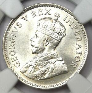 1924 South Africa George V Shilling Coin 1S - NGC MS61 (BU UNC) - Rare Date!