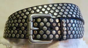 GUESS STUDDED LEATHER BELT Women's 38 - 41 HEAVY DUTY EXCELLENT FREE SHIPPING