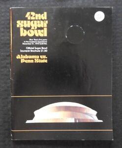 1975 SUGAR BOWL PENN STATE vs ALABAMA FOOTBALL PROGRAM SIGNED BY CHUCK DALY RARE