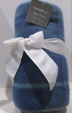 "Fleece Throw Blue Plaid Essential Home 100% Polyester 50"" X 60"" NEW"