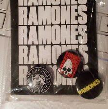 Ramones vintage button set 1991 official tour merch original package