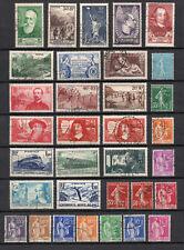FRANCE Lot  33 timbres ANNEE 1937   oblitérés parfait état - PORT GRATUIT
