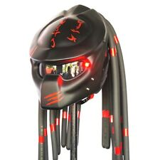 Black Red Claw Predator Motorcycle Helmet Biker Custom Open Face Casco Casque