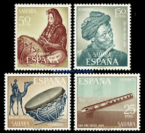 EBS Spanish Sahara 1969 - Stamp Day - Native Musicians - Edi. 275-278 MNH**