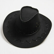 New Cowboy Hat Suede Look Wild West Fancy Dress Men Lady Cowgirl Unisex Cap UK