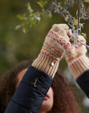 Joules Womens Christina Fairisle Gloves - Fairisle - One Size