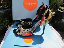 Karen Millen Peep Toe Slim Floral Heels for Women