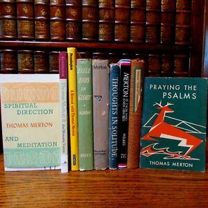 Thomas Merton Lot of 9, Seeds; Solitude; Island; Psalms, Vision....