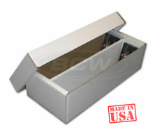 1600 Ct Card Board Box Corrugated Storage Shoe Box - Sports/Gaming/Trading Cards