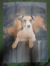 "Jack Russell Terrier on Fence Dog Breed Garden Flag ~12""x16"""