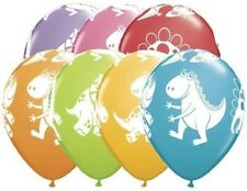 "(5) Quantity Cute N Cuddly Dinosaurs Latex 11"" Balloon Party Decorating Supplies"
