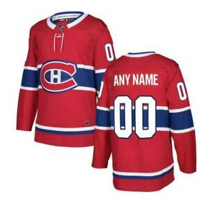 Custom Montreal Canadiens Jersey Men's Ice Hockey Any Name Number Red Stitched
