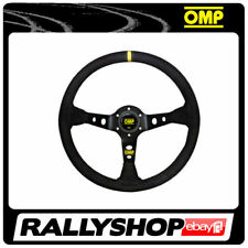 OMP CORSICA Steering Wheel SMOOTH LEATHER BLACK ANODIZED Race, Rally, Tuning