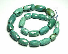 "10"" Strand TIBETAN TURQUOISE 8-16mm Faceted Barrel Beads /B2"