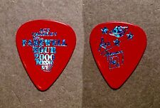 KISS Ace Frehley Farewell City prism blue on red guitar pick - Fresno, CA 8/1/00