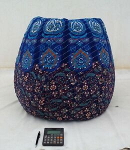 Handmade Quilted Cotton Floral Bohemian Hippie Bean Bag Gypsy Ottoman Pouf BD58