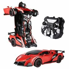 Transformer Car Robot  Remote Control Electronic Car Trending Hot Boy Toys Red