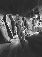 Alex Ross SIGNED Universal Monsters Sideshow Art Print ~ Boris Karloff The Mummy