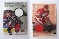 2000-01 SPx W-FE Fedorov Sergei red/black winning materials jersey and puck  win
