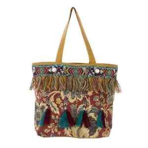 Tasche Strandtasche Einkauftasche Ethno Orient Ibiza bestickt, Blanc Mariclo