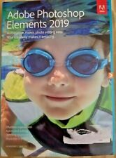 Adobe Photoshop Elements 2019  Mac and Windows DVD Boxed Free Ship