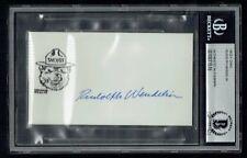 Rudolph Rudy Wendelin signed autograph 2.5x5 cut Creator of Smokey the Bear BAS