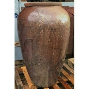 99cm CLEARANCE Brown Chinese Yakuta Water Jar Urumqi Garden Planter/Plant Pot