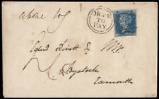SG14 1843 2d. Blue, plate 3, IH- in at right. Superbly cancelled with the No....