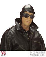 Sombrero De Aviador Leatherlook Accesorio Para Piloto Redondo aerolínea Air Fancy Dress
