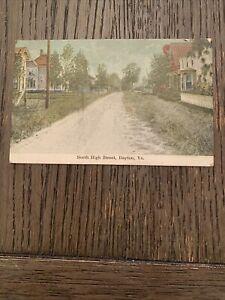 Vintage North High Street Dayton, VA Postcard 1 Cent Stamp