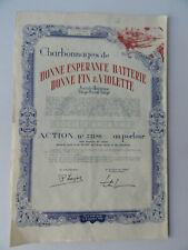 Charbonnages de Bonne Esperance Natterie Bonne Fin & Violette-Action