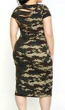 deeef38c4c Camo BUTTERY tunic Camouflage Dress t-shirt tee slashed Army 1X 2X 3X 4X 12