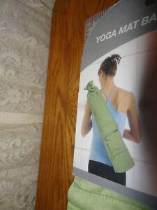 NIP Danskin NOW Yoga Mat Bag Tote Front Pocket – pale mint green