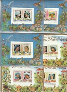 6 Blocks Queen Mom Tuvalu postfrisch 61a