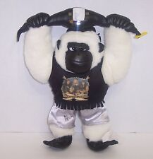 """D-Generation-X""  WWF Cuddletown Friends Gorilla Plush 14"" Action Figure {671}"