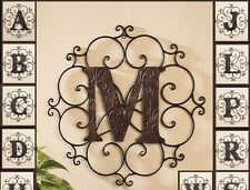 Personalized Bronze Metal Scrolled Monogram Wall Hanging Art Home Decor  Letter